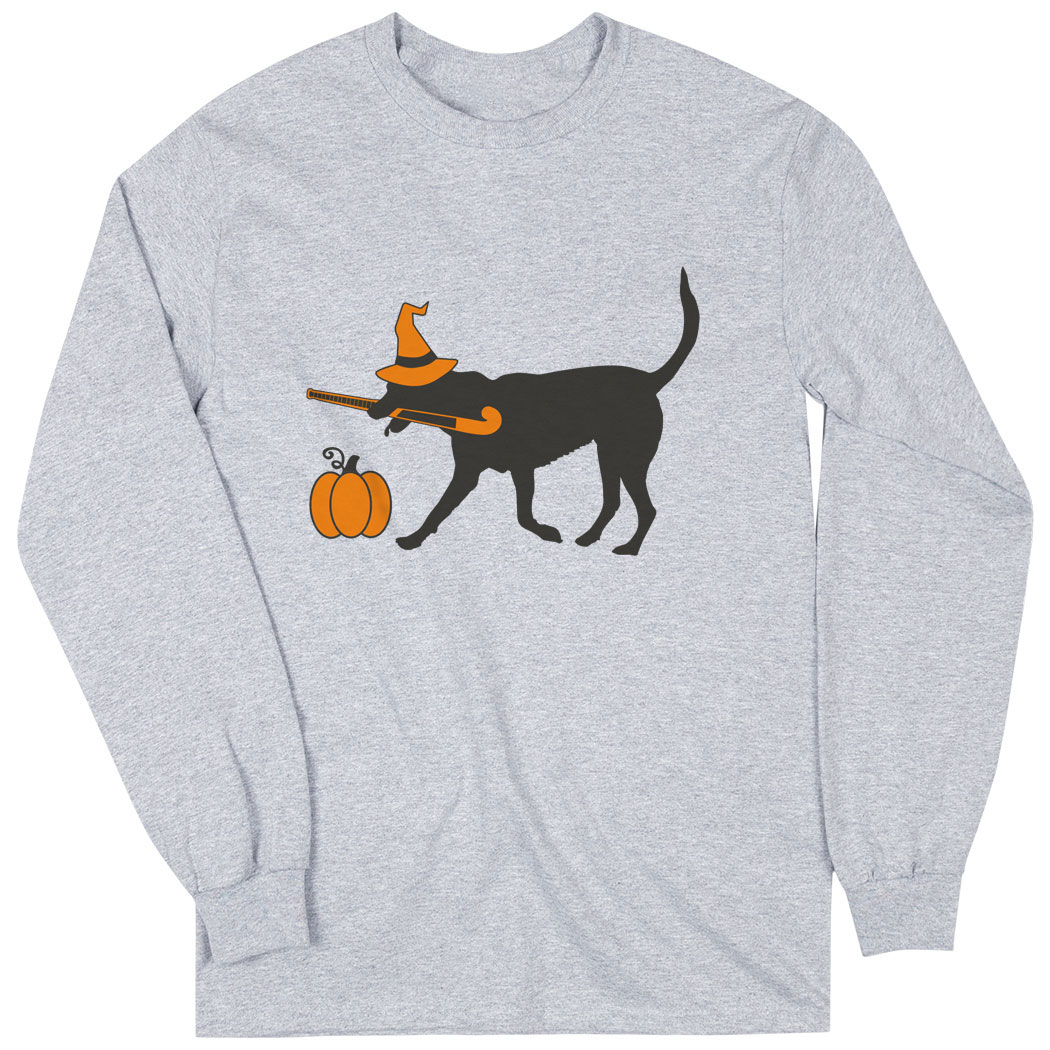 Field Hockey Long Sleeve T-Shirt - Witch Dog