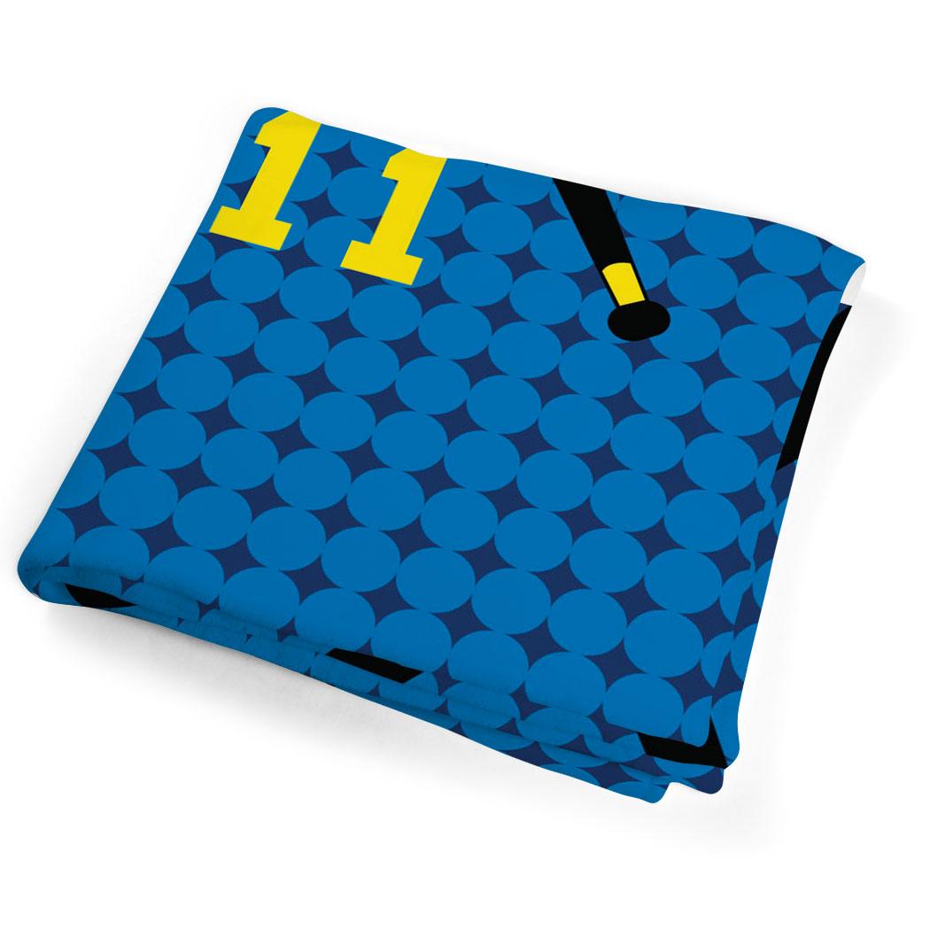 Personalized Hockey Towels: Field Hockey Beach Towel Personalized Crossed Sticks Heart