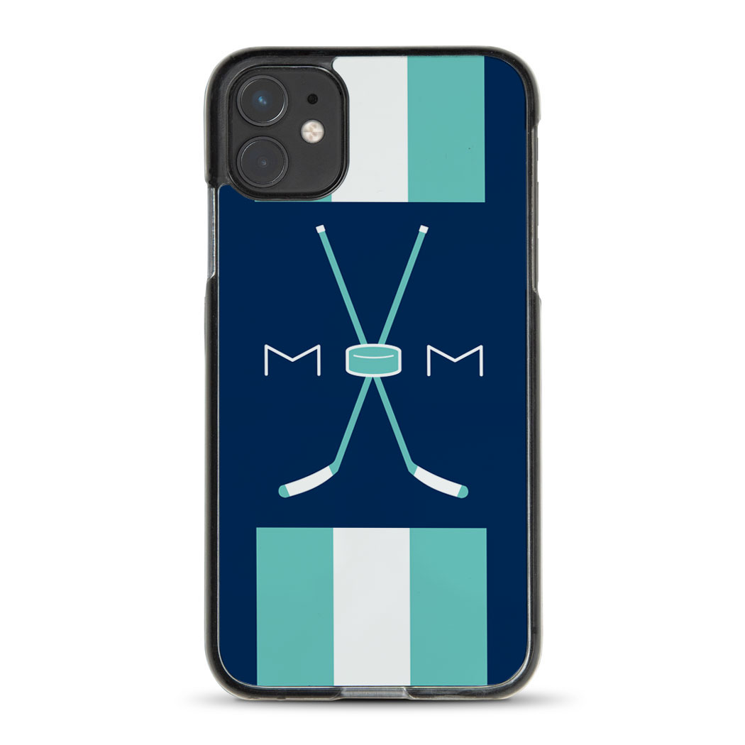 Hockey iPhone® Case - Mom With Crossed Sticks