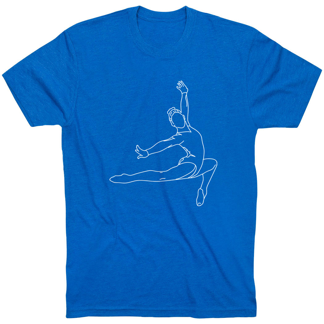 Gymnastics Short Sleeve T-Shirt - Gymnast Sketch