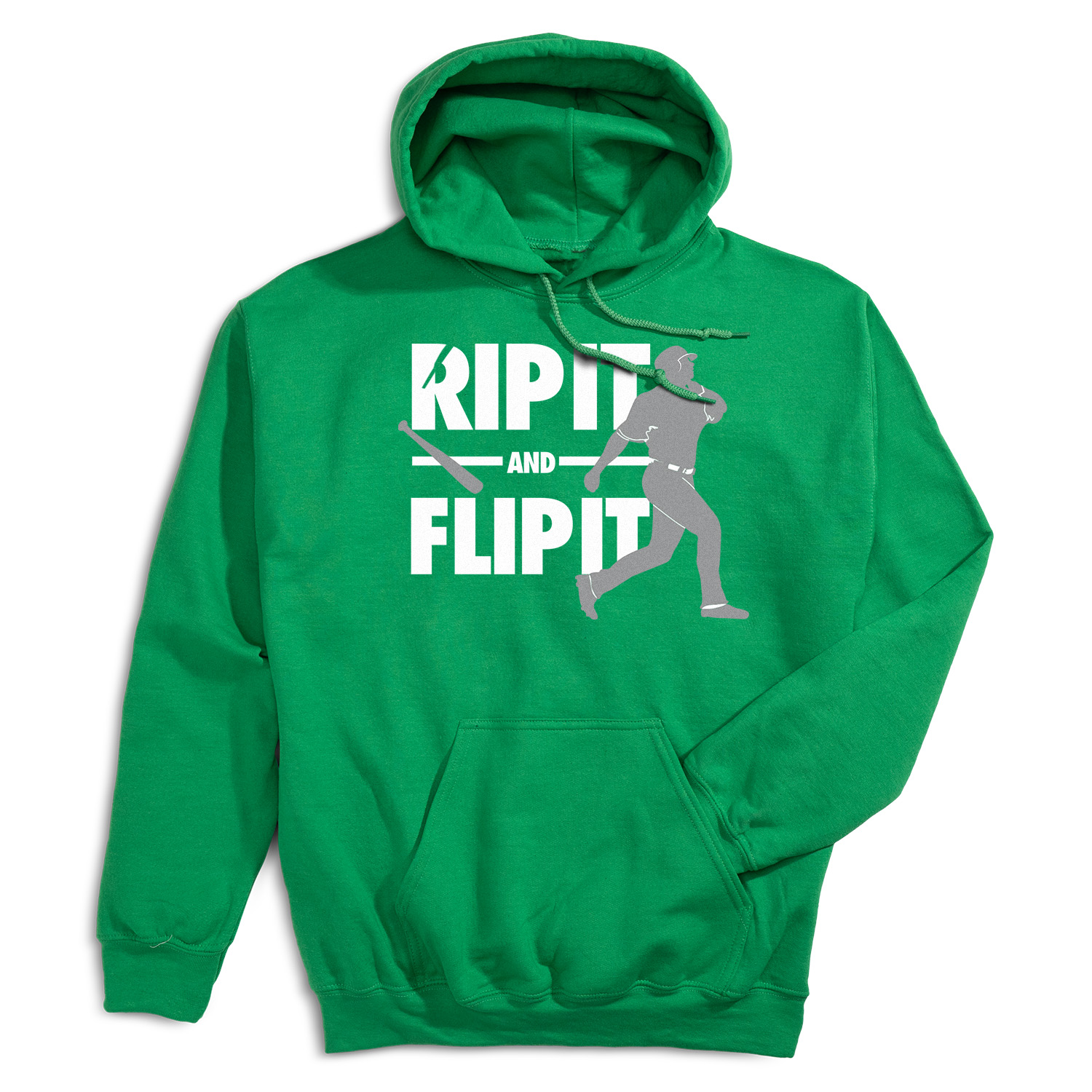 Baseball Hooded Sweatshirt - Rip It Flip It