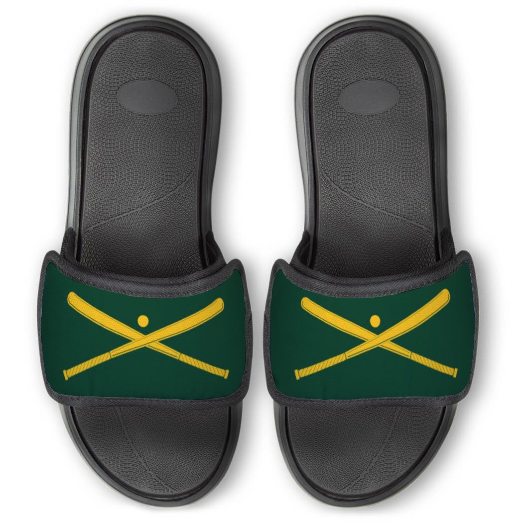 Baseball Repwell® Slide Sandals - Crossed Bats with Ball