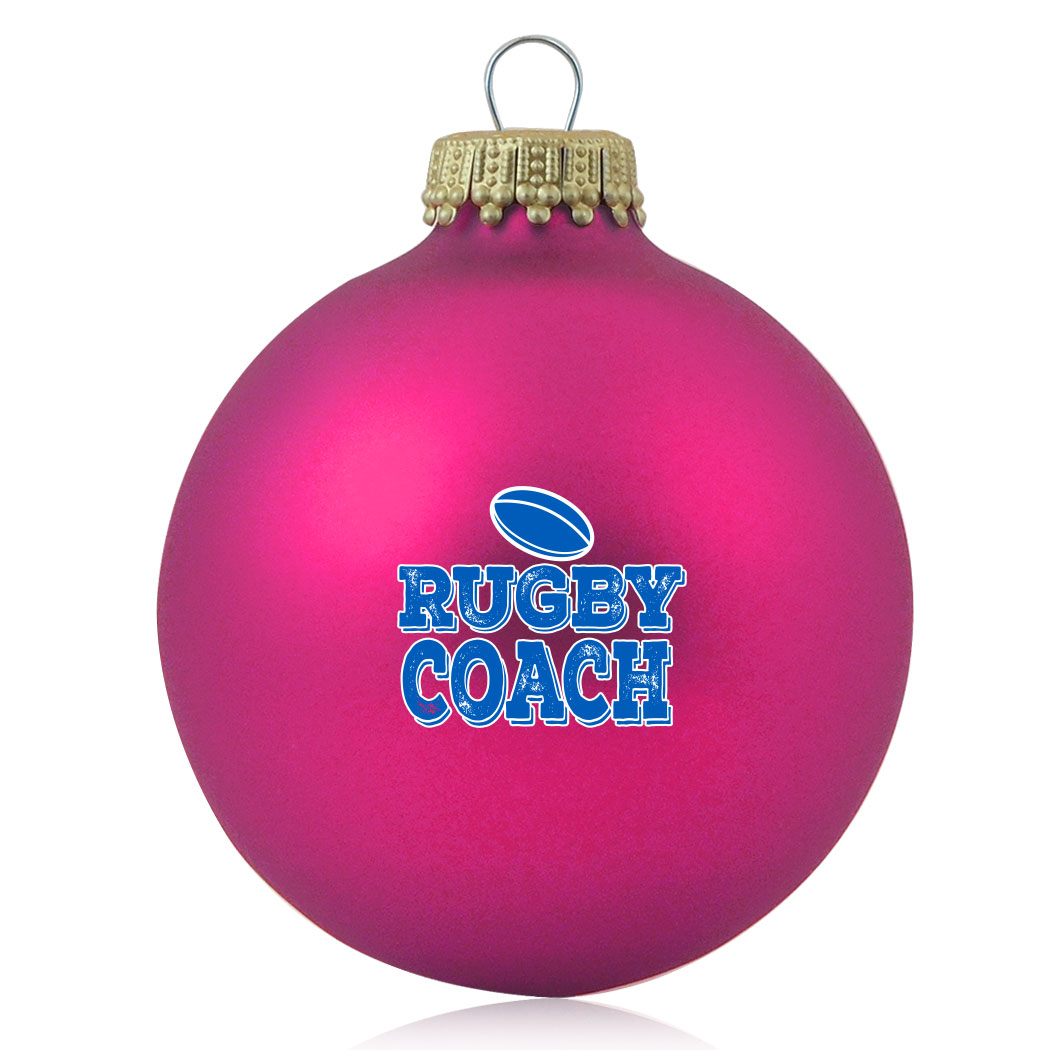 Rugby Glass Ornament Rugby Coach Click To Enlarge