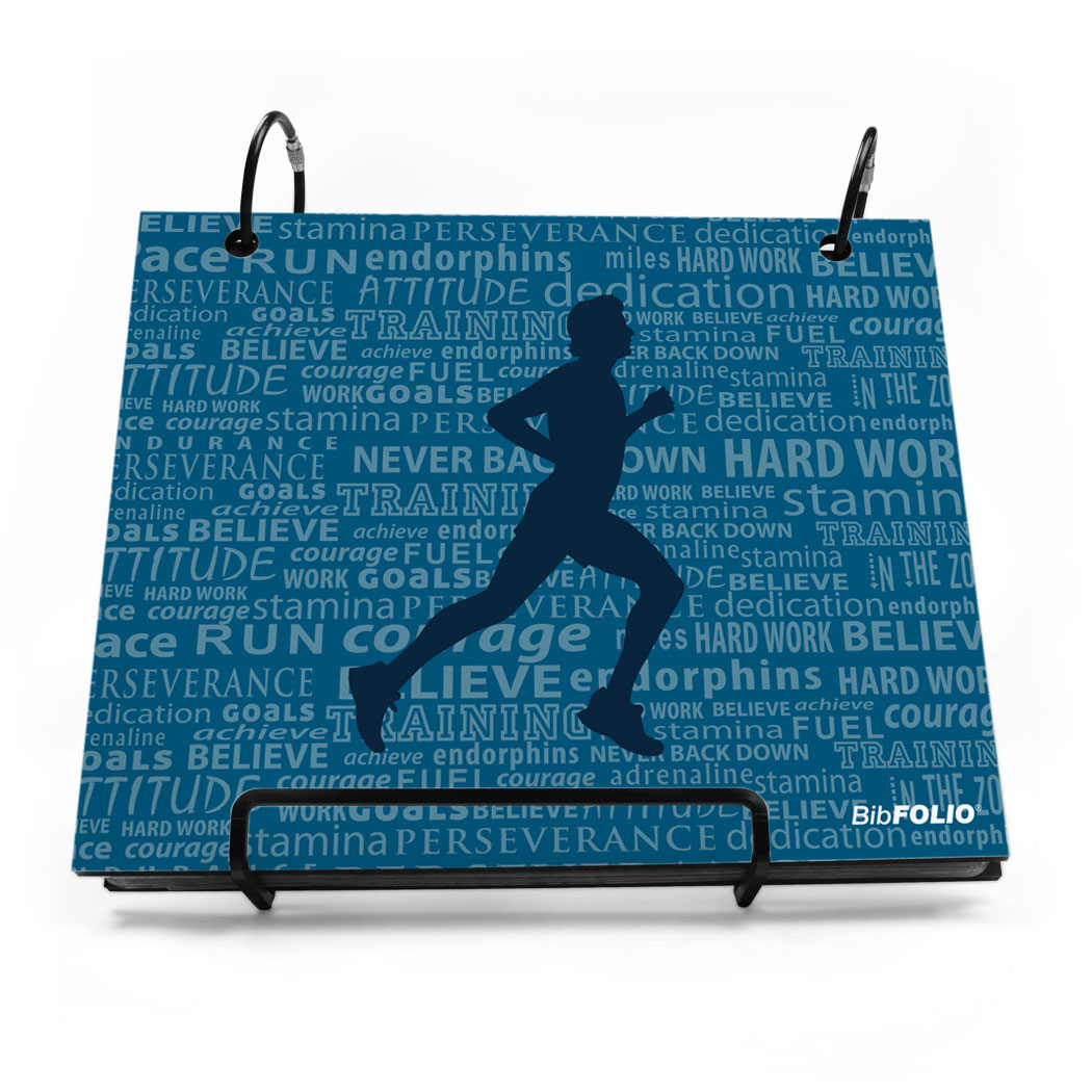 BibFOLIO® Race Bib Album - Running Inspiration Male