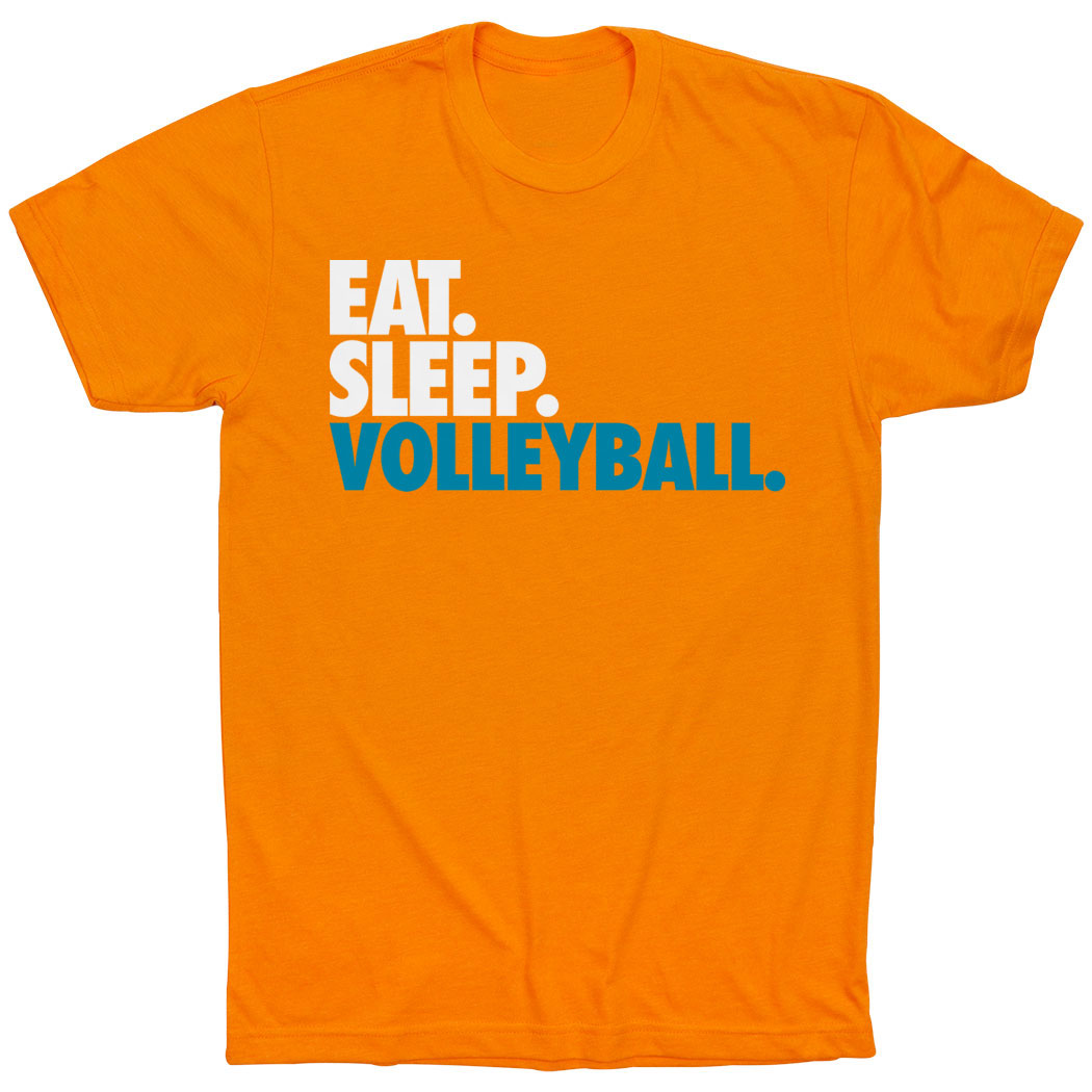 Volleyball T-Shirt Short Sleeve Eat. Sleep. Volleyball. - Personalization Image