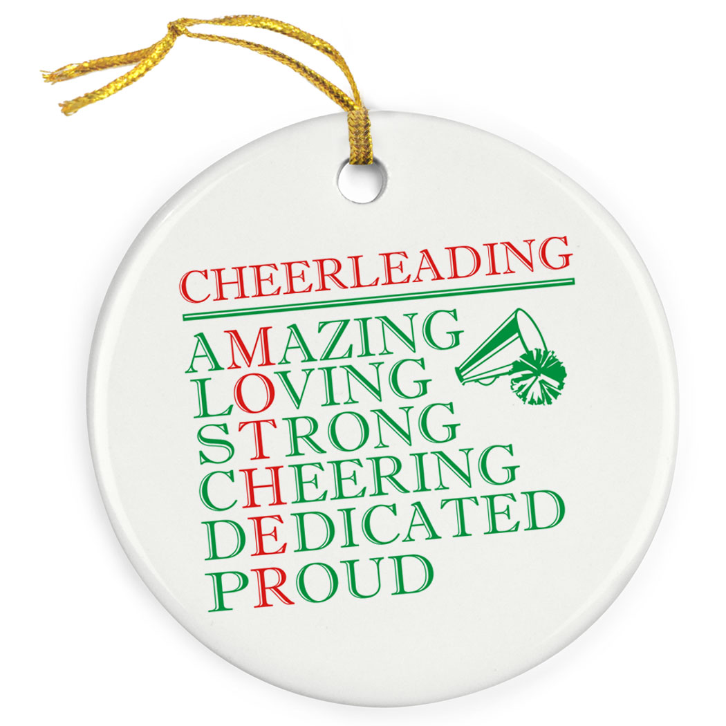 Cheerleading Porcelain Ornament - Mother Words