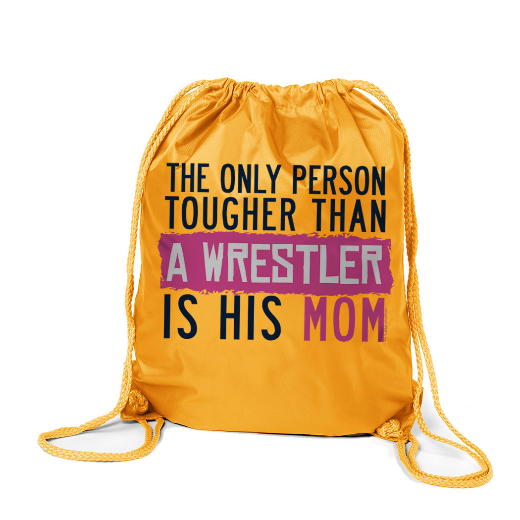 Wrestling Sport Pack Cinch Sack Tougher Than A Wrestler Mom
