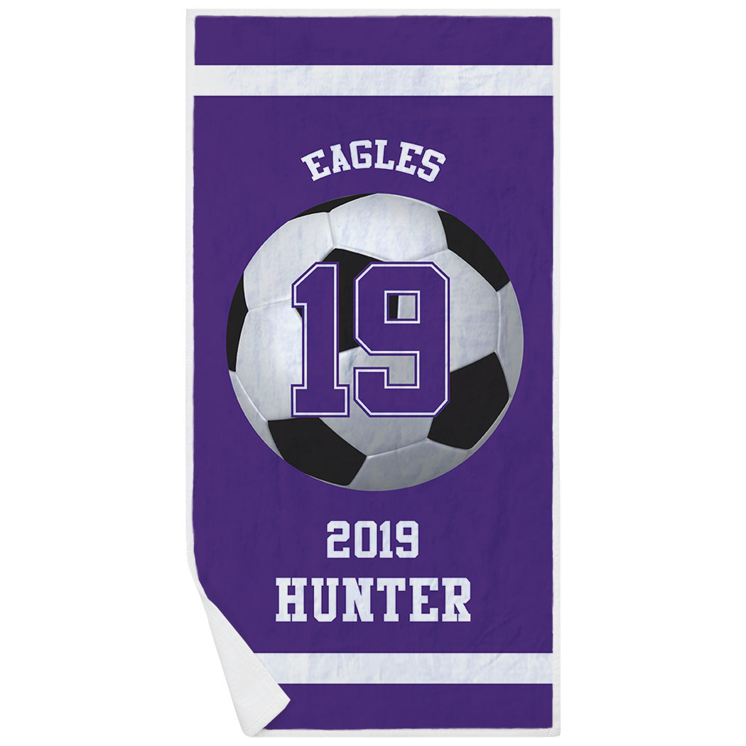 Soccer Premium Beach Towel - Personalized Team - Personalization Image
