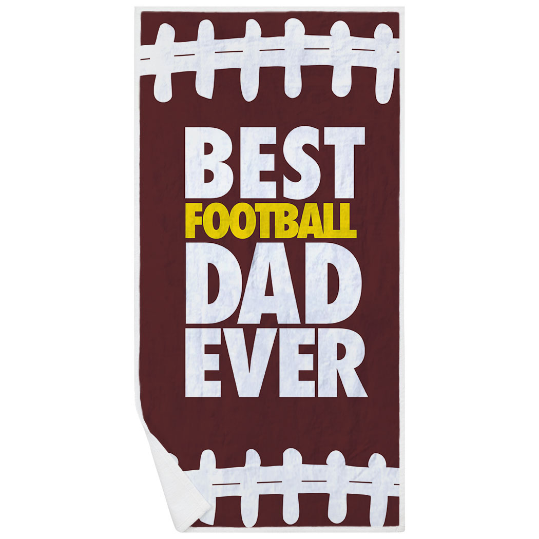 Football Premium Beach Towel - Best Dad Ever