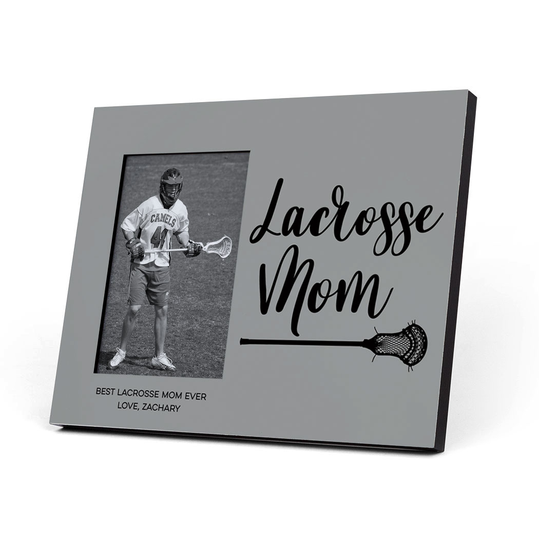 Guys Lacrosse Photo Frame - Lacrosse Mom Script - Personalization Image