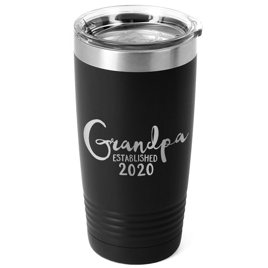 Personalized 20 oz. Double Insulated Tumbler - Grandpa Established