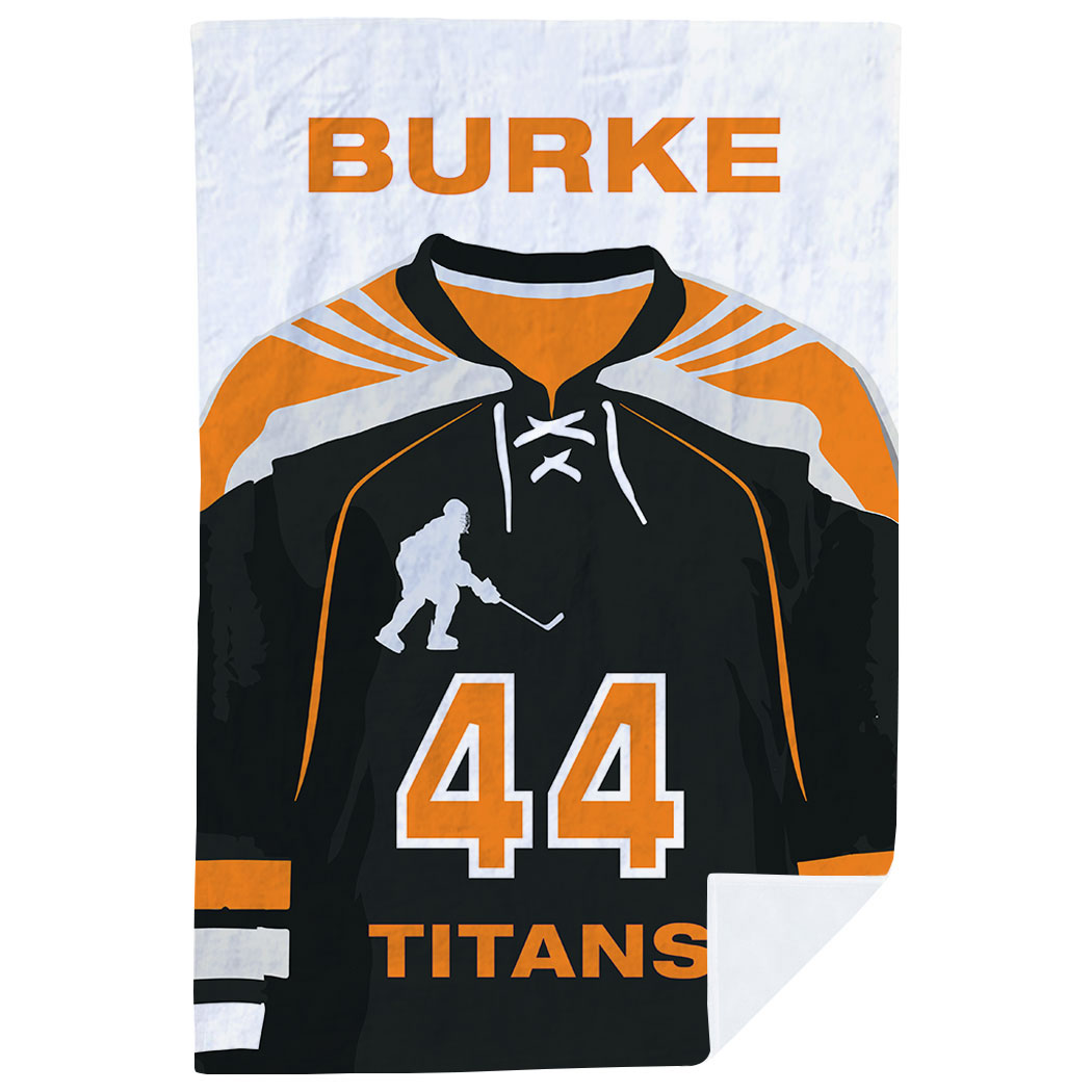 Hockey Premium Blanket - Personalized Jersey - Personalization Image