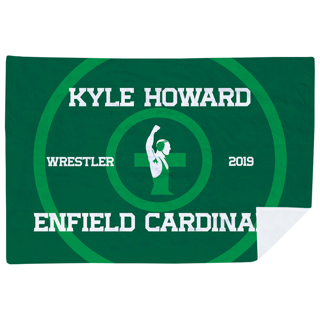 Wrestling Premium Blanket - Personalized Wrestling Team - Personalization Image