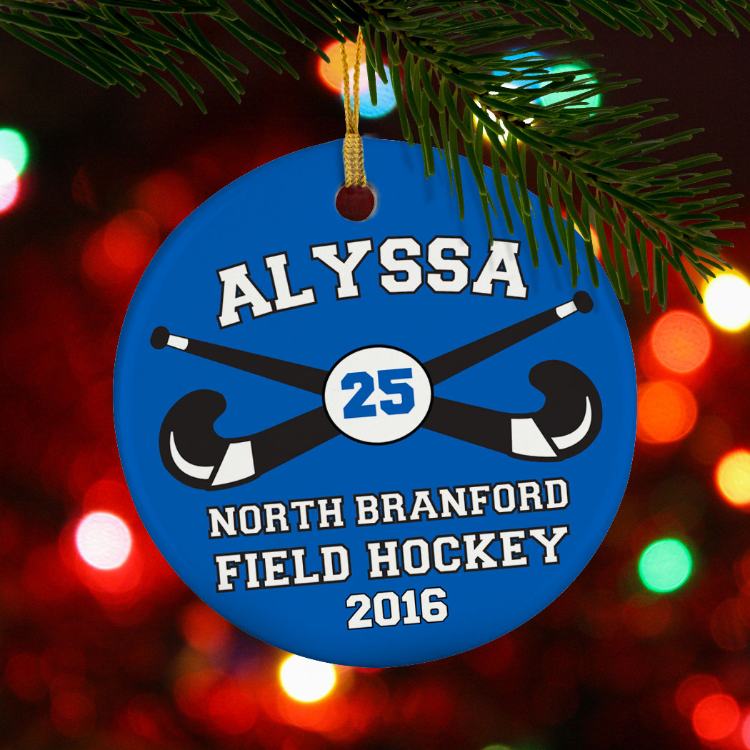 Custom Hockey Ornament Sports Bag Tags, Sports Bag Accessories, Coach Gifts, Team Gifts, Personalized, Sport Ornament