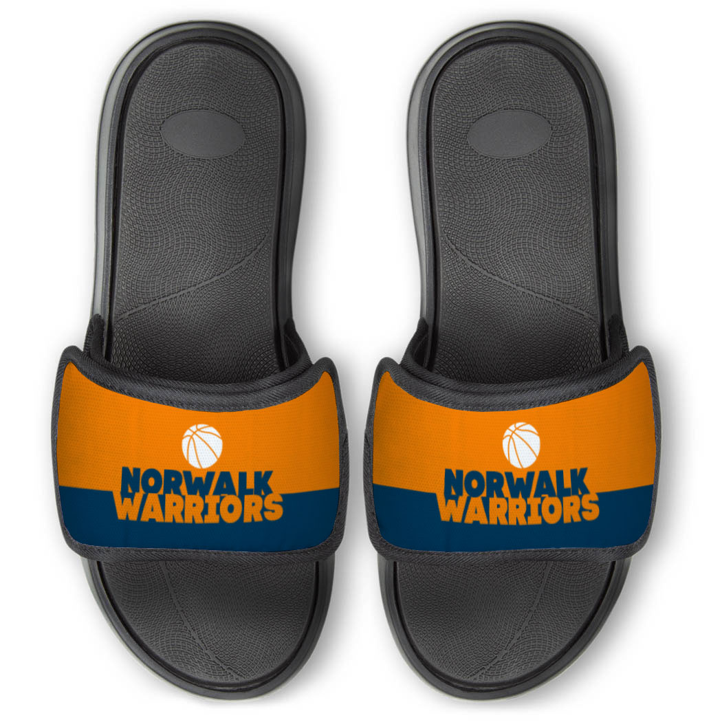 Basketball Repwell® Slide Sandals - Team Name Colorblock