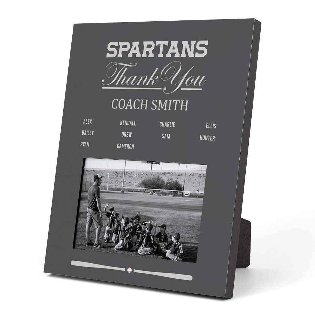 Baseball Photo Frame - Thank You Coach Roster