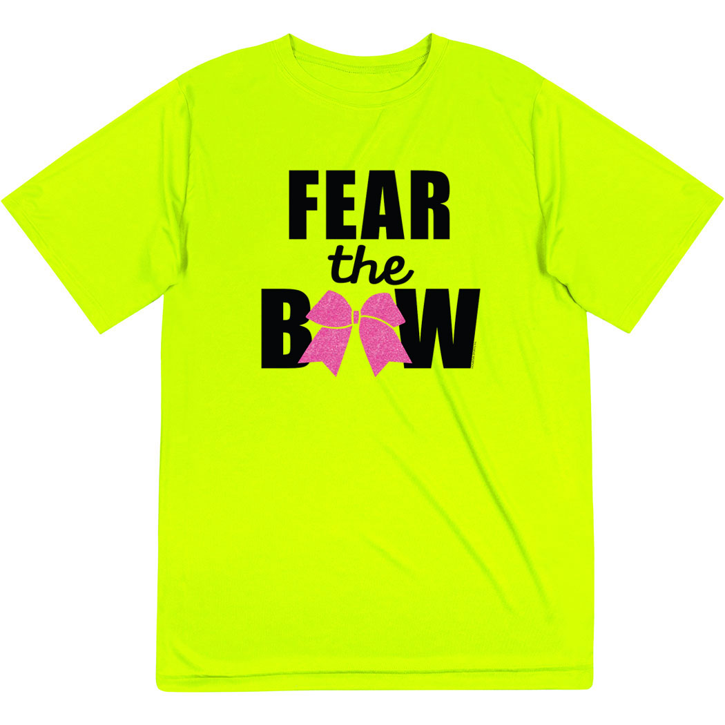 Cheerleading Short Sleeve Performance Tee - Fear the Bow