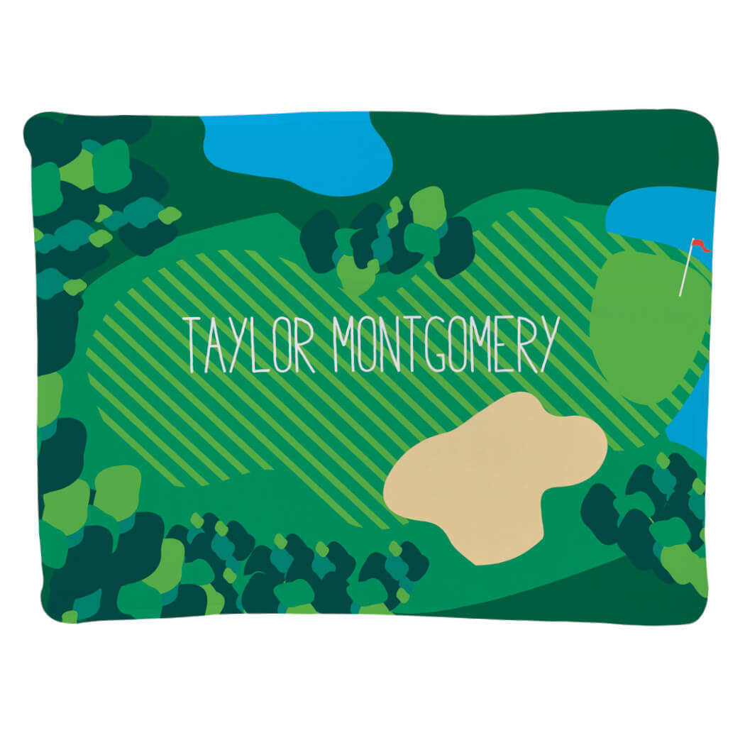 Golf Baby Blanket - Course