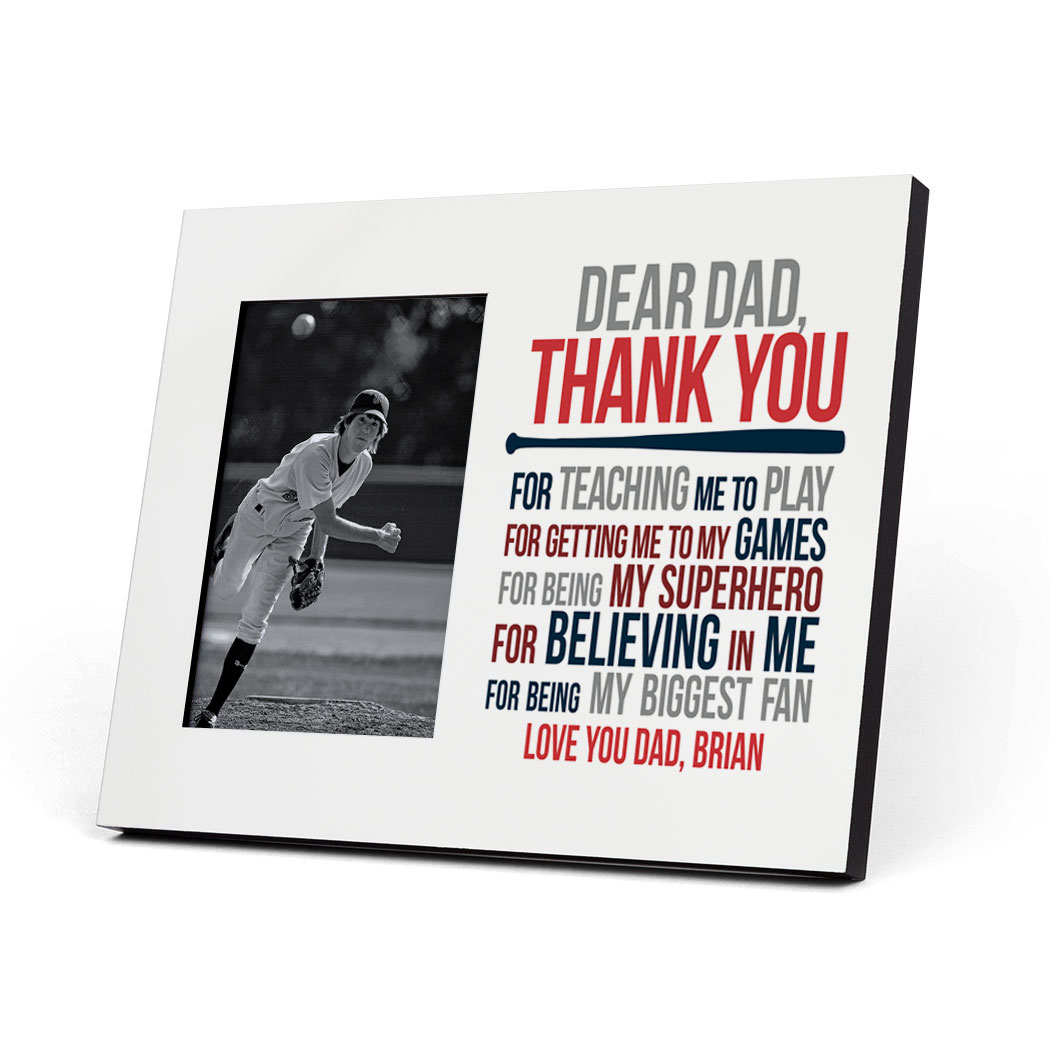 Baseball Photo Frame - Dear Dad - Personalization Image
