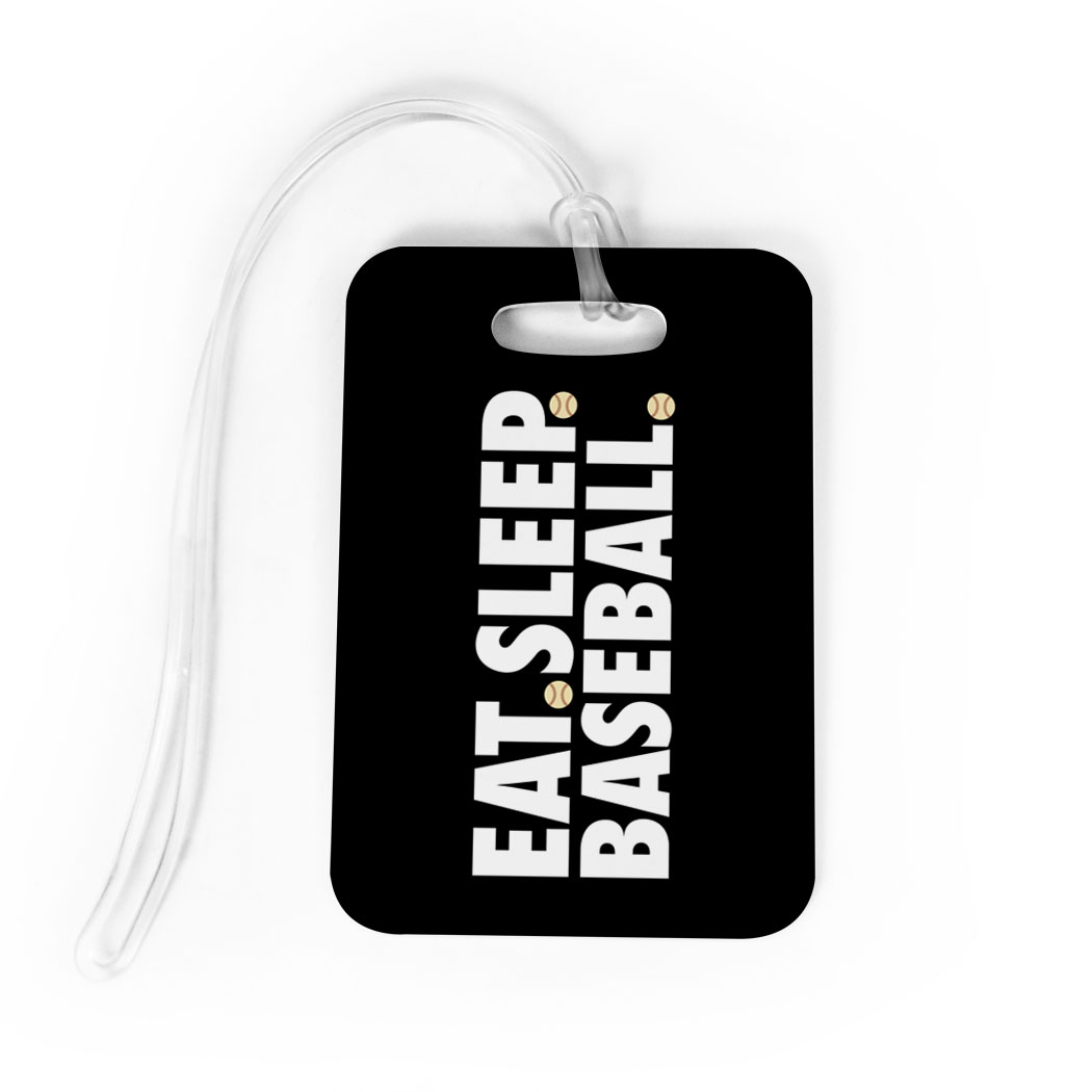 Baseball Bag/Luggage Tag - Eat Sleep Baseball