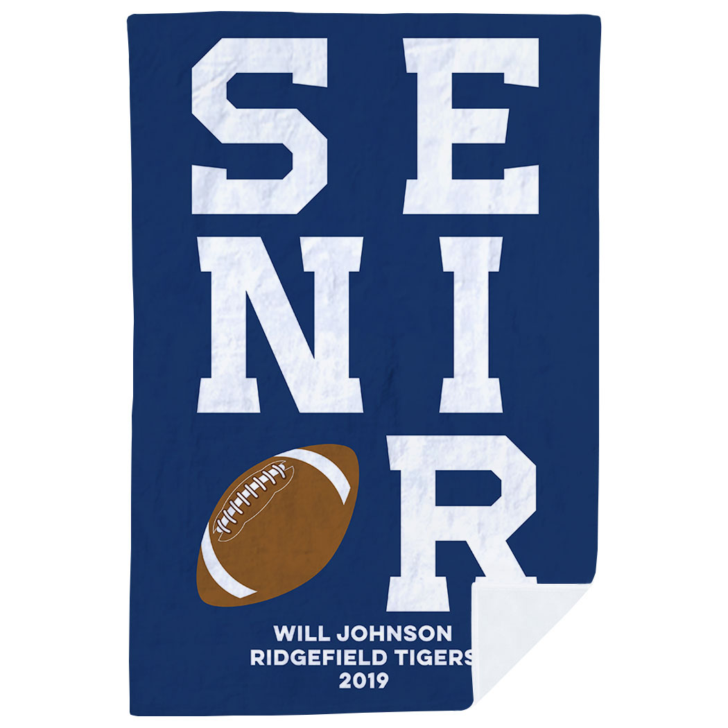 Football Premium Blanket - Personalized Senior - Personalization Image