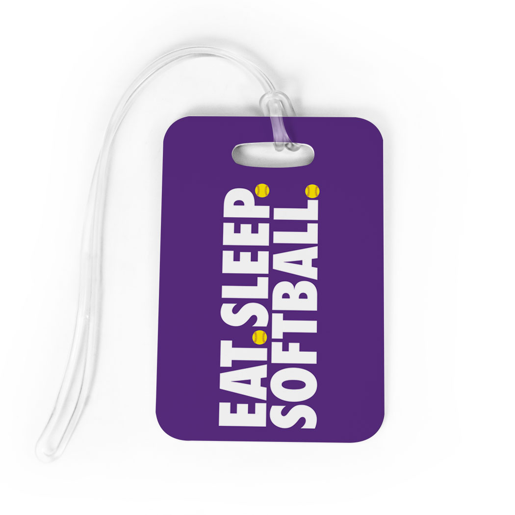 Softball Bag/Luggage Tag - Eat Sleep Softball