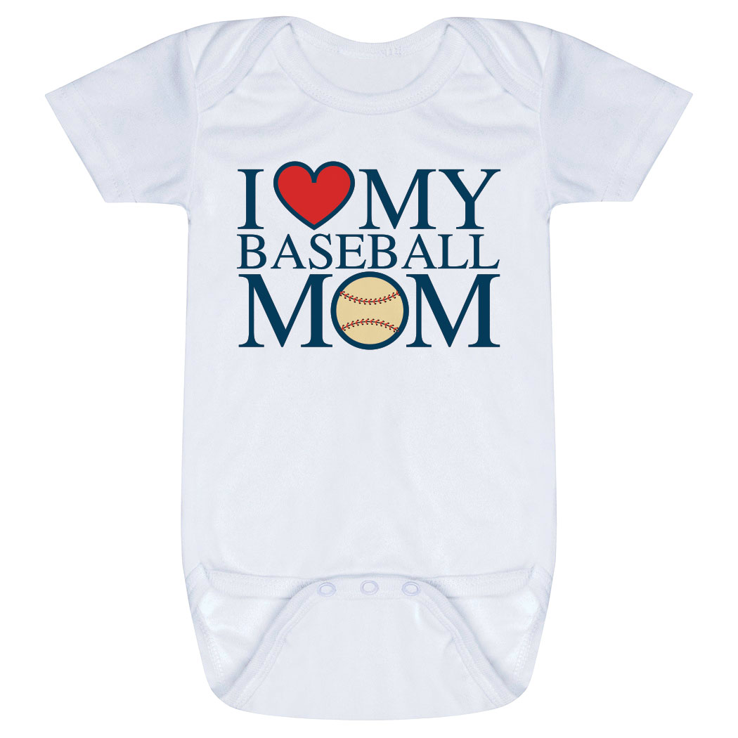 Baseball Baby One-Piece - I Love My Baseball Mom