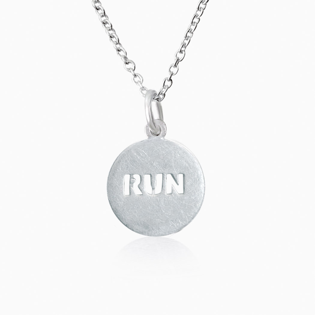 Livia Collection Sterling Silver Matte Run Necklace