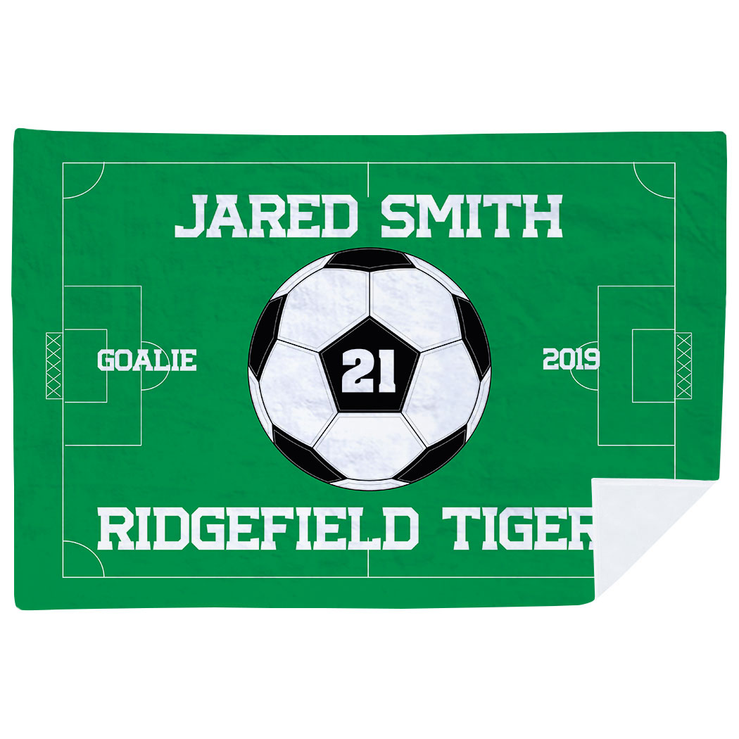 Soccer Premium Blanket - Personalized Soccer Team - Personalization Image