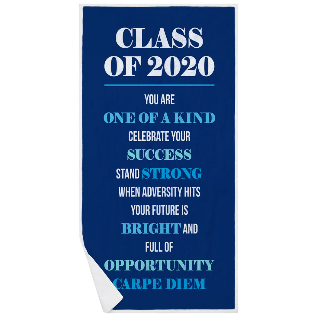 Premium Beach Towel - Class Of 2020 Carpe Diem