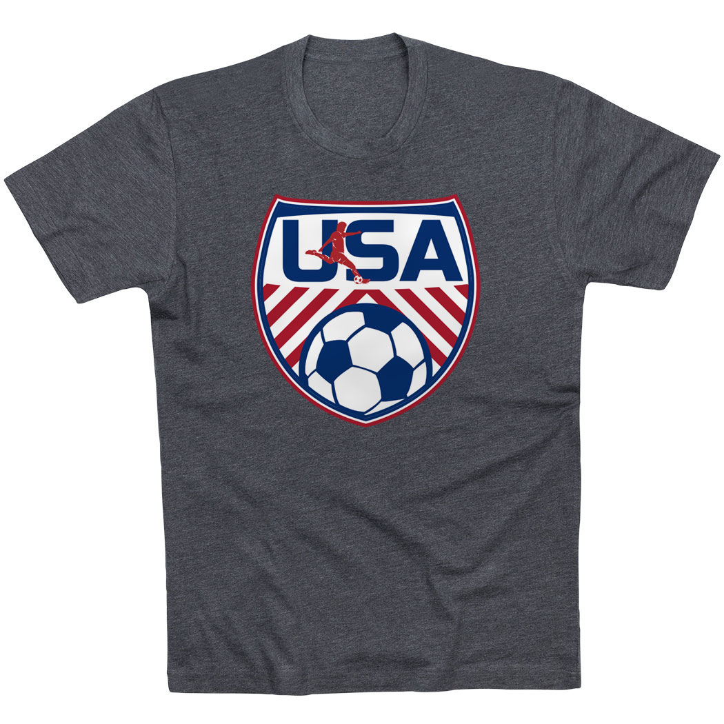 Soccer Short Sleeve T-Shirt - Soccer USA - Personalization Image