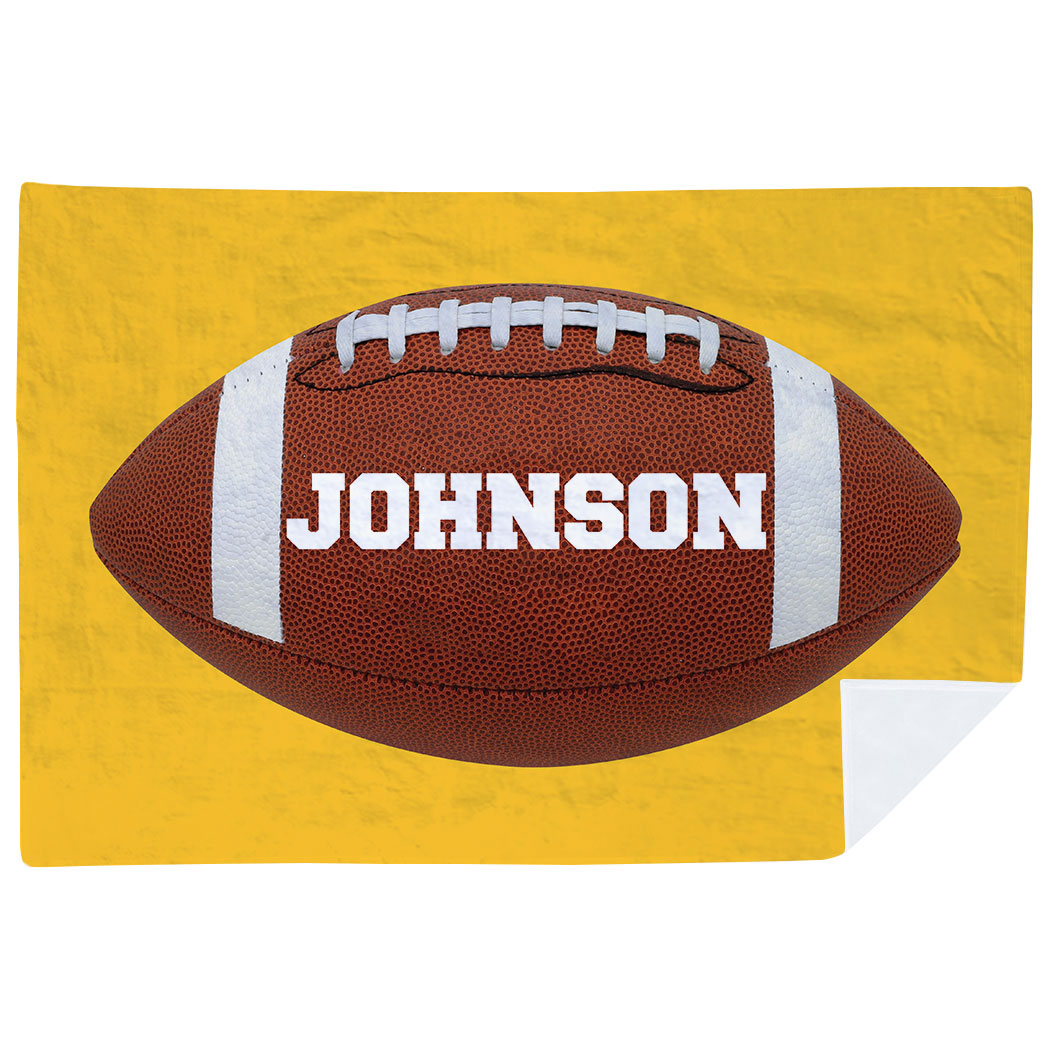 Football Premium Blanket - Personalized Big Name - Personalization Image