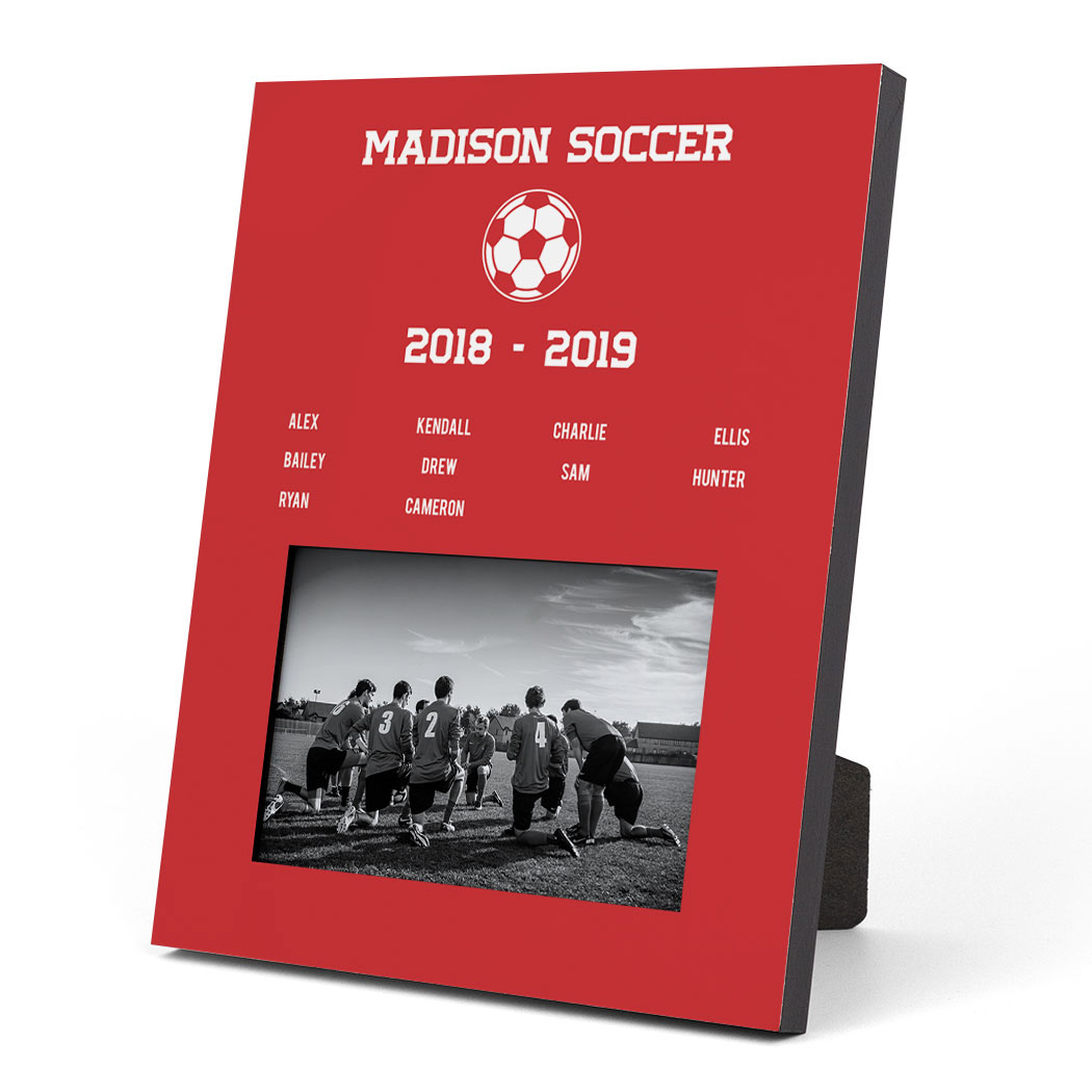 Soccer Photo Frame - Team Roster