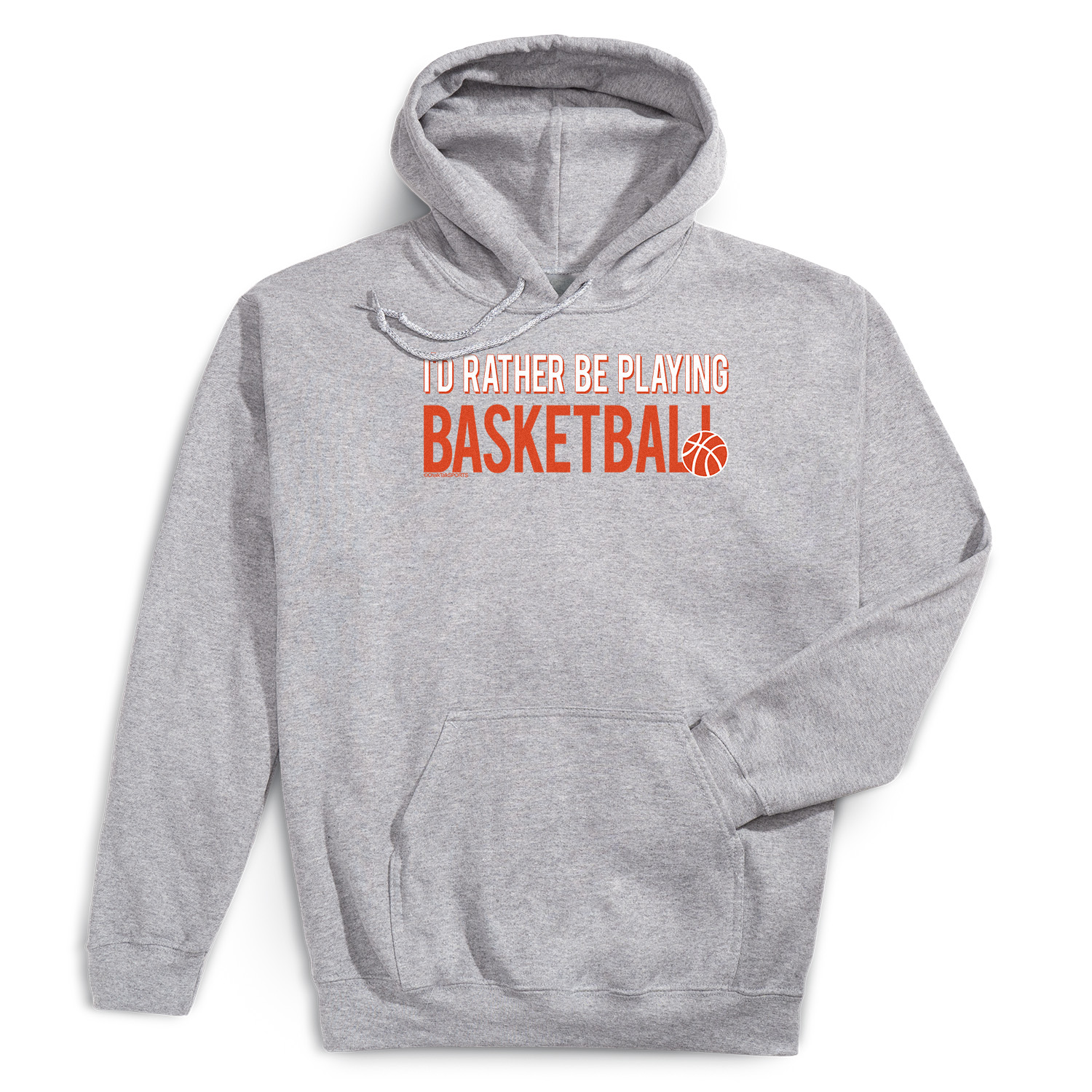Basketball Hooded Sweatshirt - I'd Rather Be Playing Basketball - Personalization Image