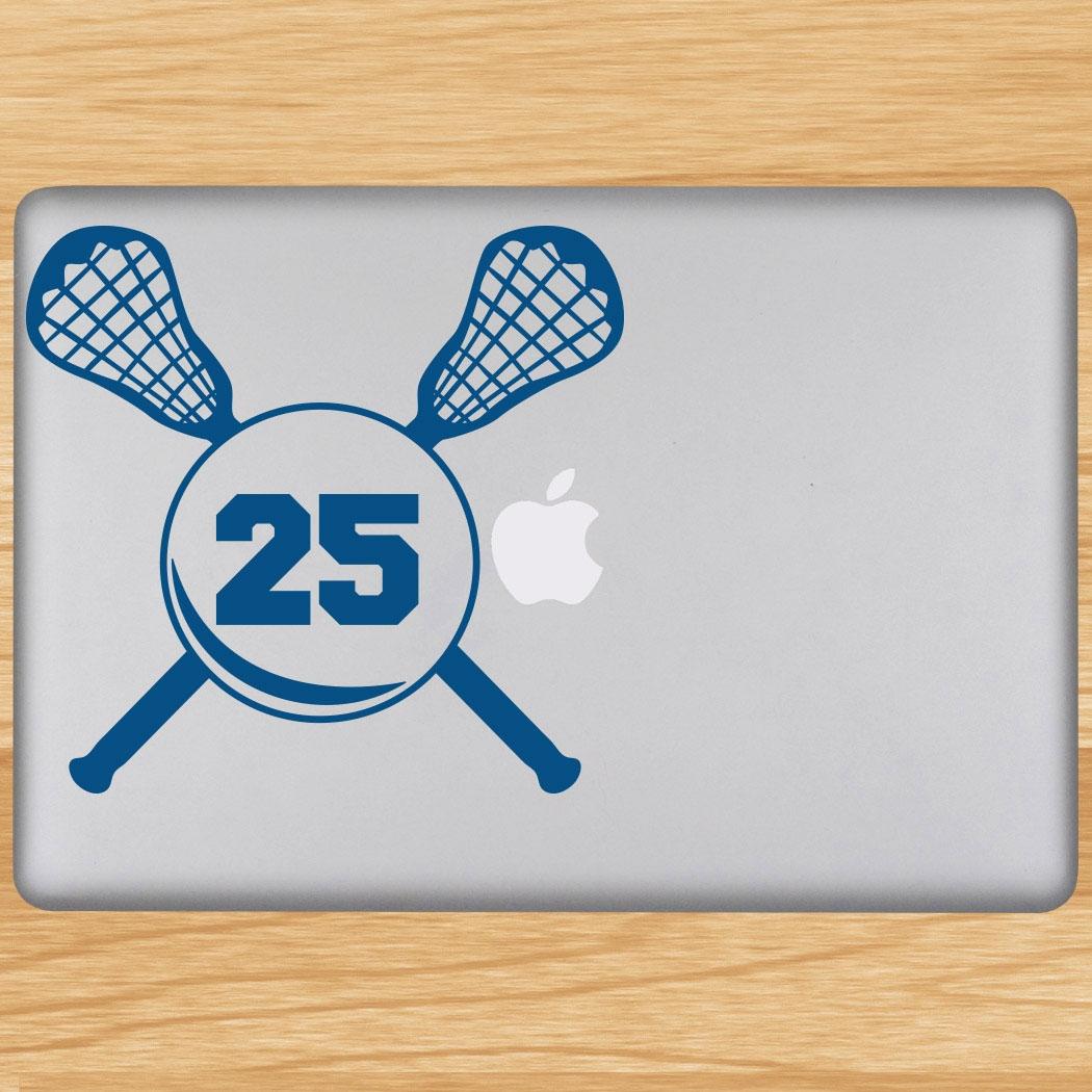 Lacrosse Crossed Sticks Removable ChalkTalkGraphix Laptop Decal Click to  Enlarge