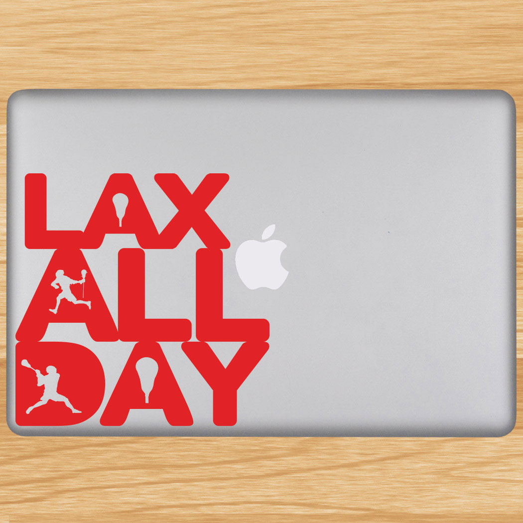 Lax All Day Removable ChalkTalkGraphix Laptop Decal Click to Enlarge
