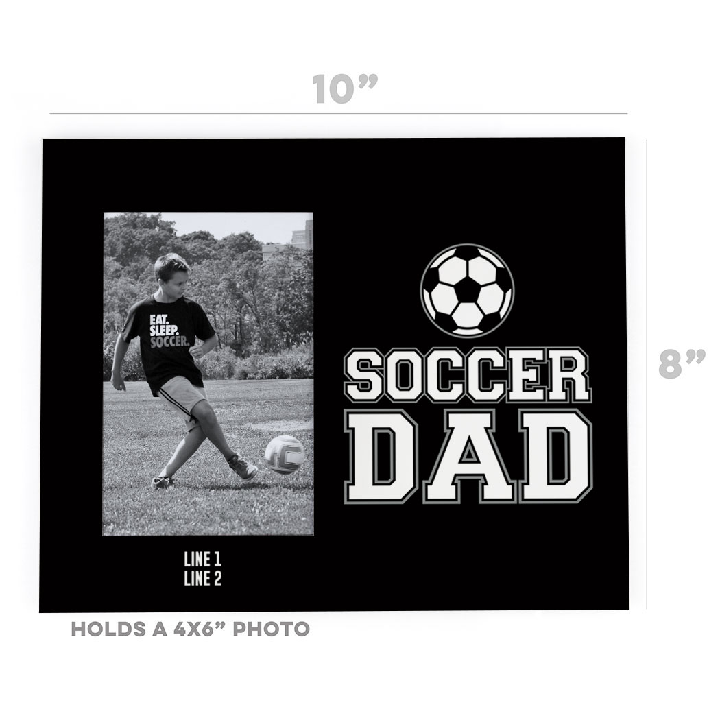 Soccer photo frame soccer dad chalktalksports soccer photo frame soccer dad jeuxipadfo Images