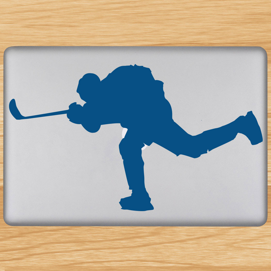Hockey Player Shooting Removable ChalkTalkGraphix Laptop Decal Click to  Enlarge