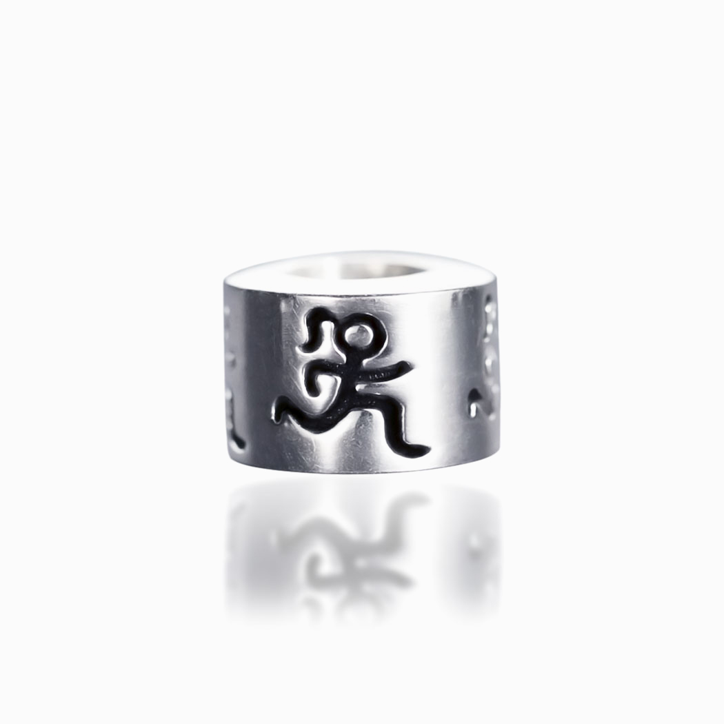 Sterling Silver Runner Girl Large Hole Bead