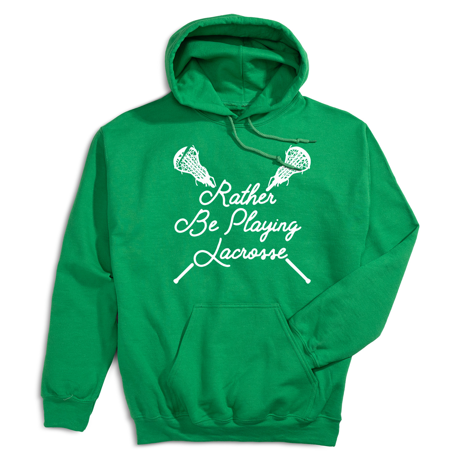 Girls Lacrosse Hooded Sweatshirt - Rather Be Playing Lacrosse - Personalization Image
