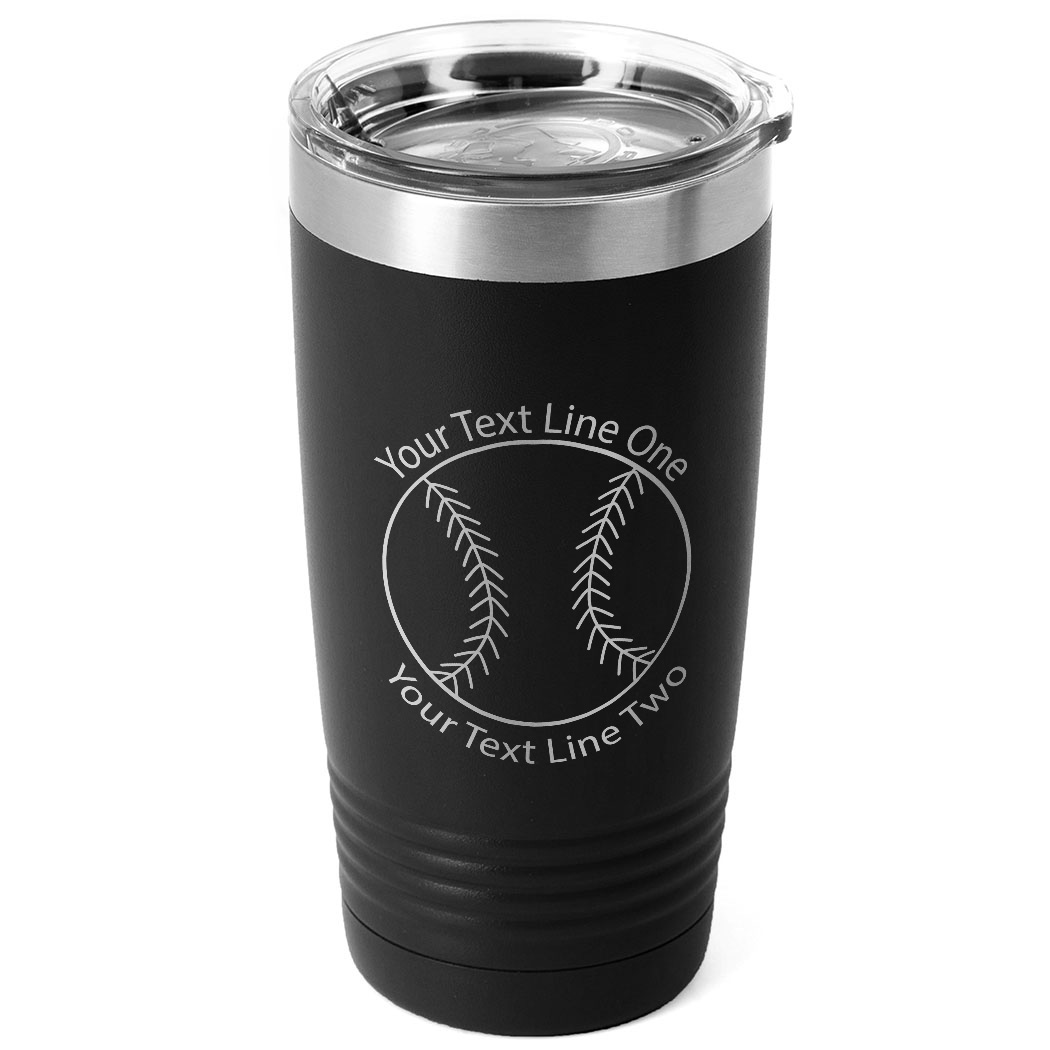 Softball 20 oz. Double Insulated Tumbler - Icon - Personalization Image