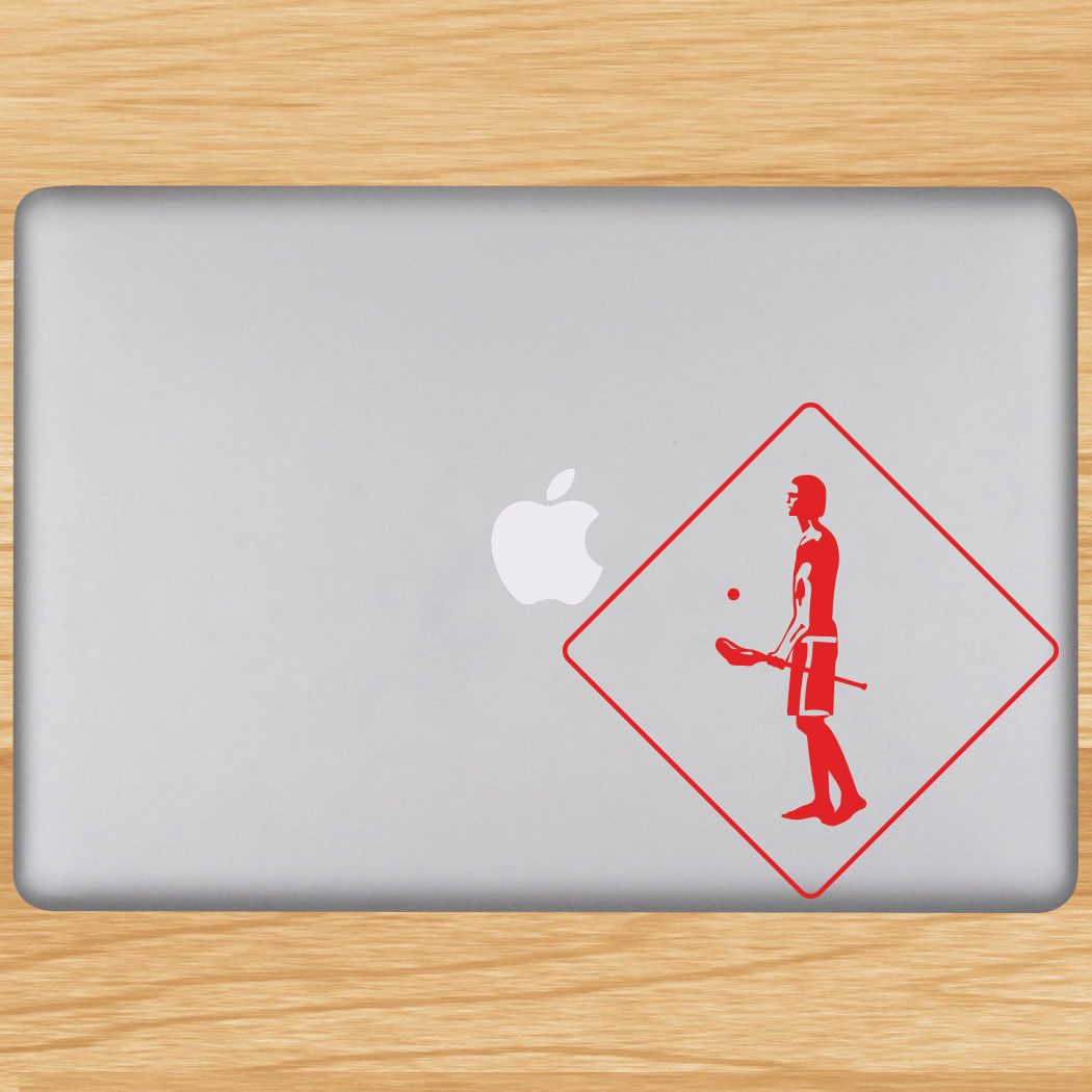 Lax Crossing Removable ChalkTalkGraphix Laptop Decal Click to Enlarge