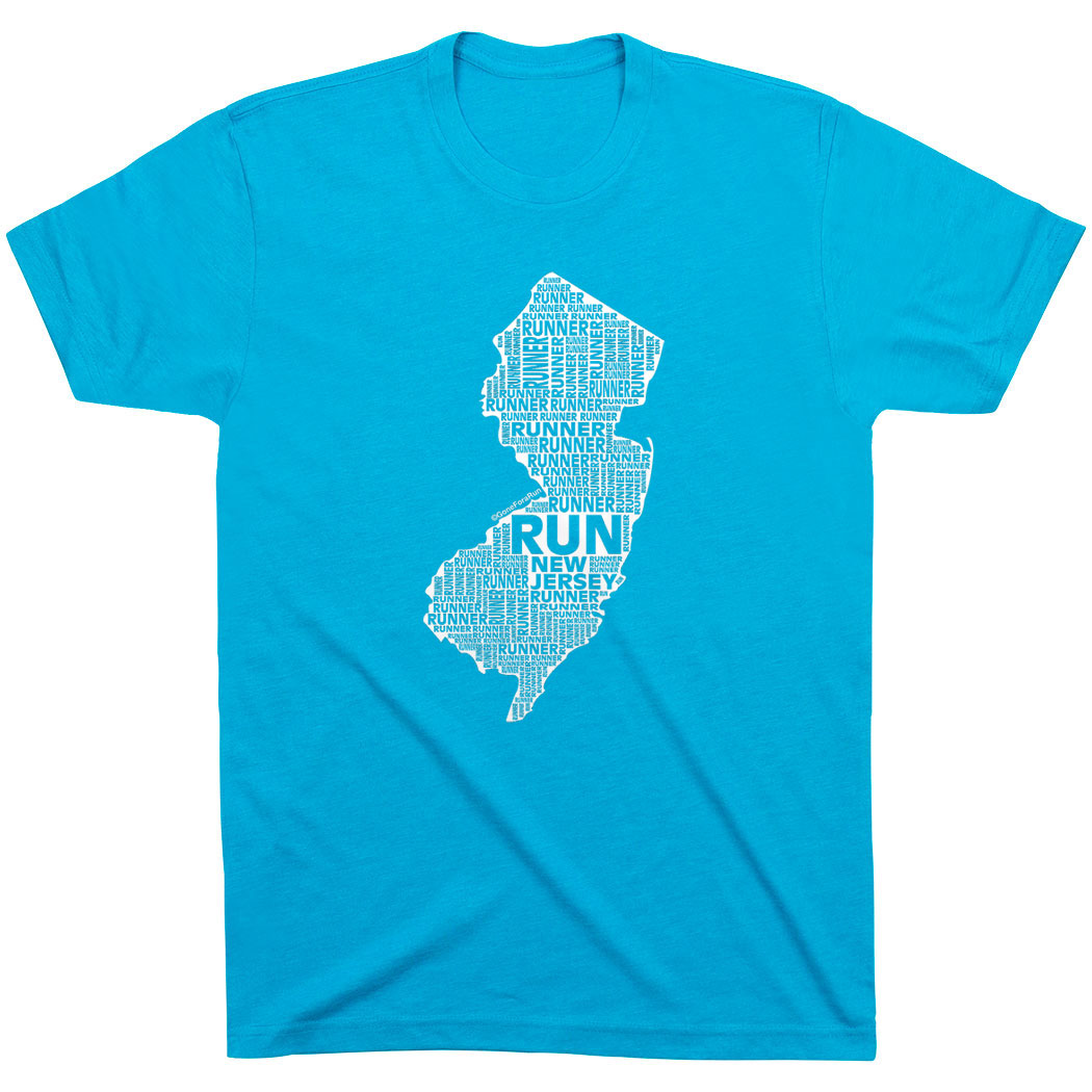 Running Short Sleeve T-Shirt - New Jersey State Runner