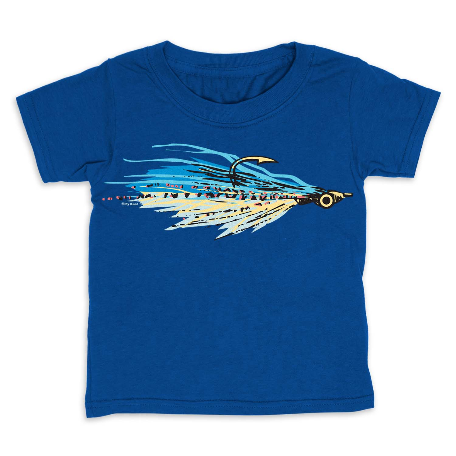 Fly Fishing Toddler Short Sleeve Tee - Clouser Fly