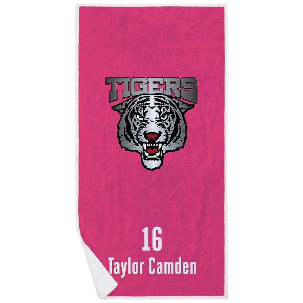 Cheerleading Premium Beach Towel - Custom Team Logo - Personalization Image