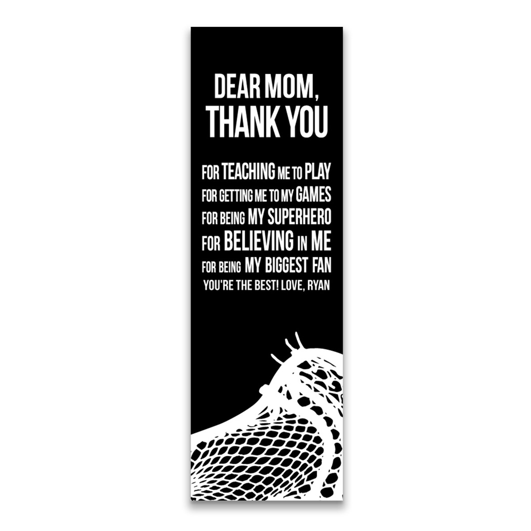 "Guys Lacrosse 12.5"" X 4"" Removable Wall Tile - Dear Mom (Vertical)"