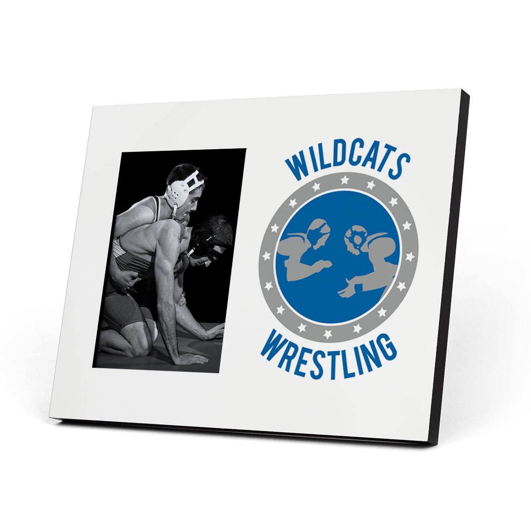 Wrestling Photo Frame - Personalized Wrestling Crest - Personalization Image