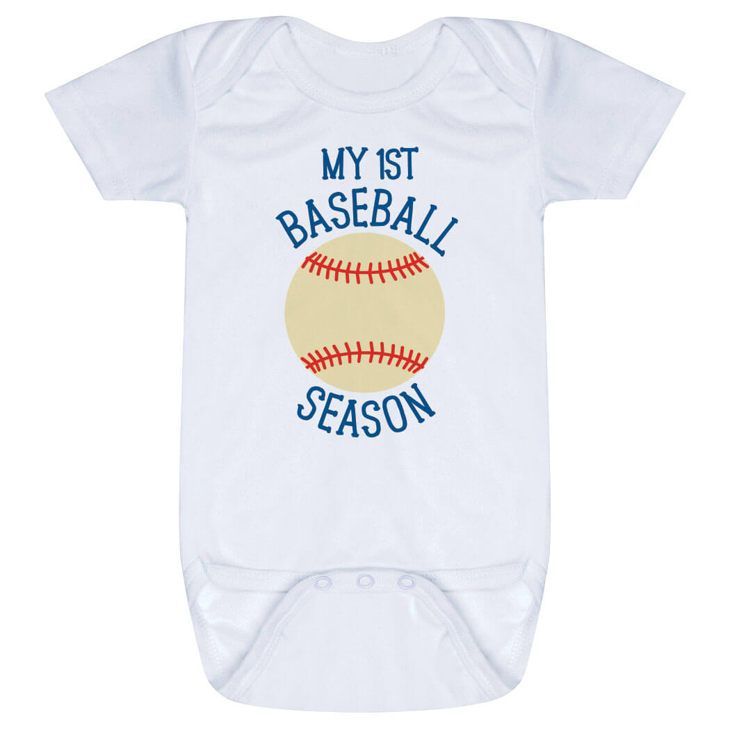 Baseball Baby One-Piece - My First Baseball Season