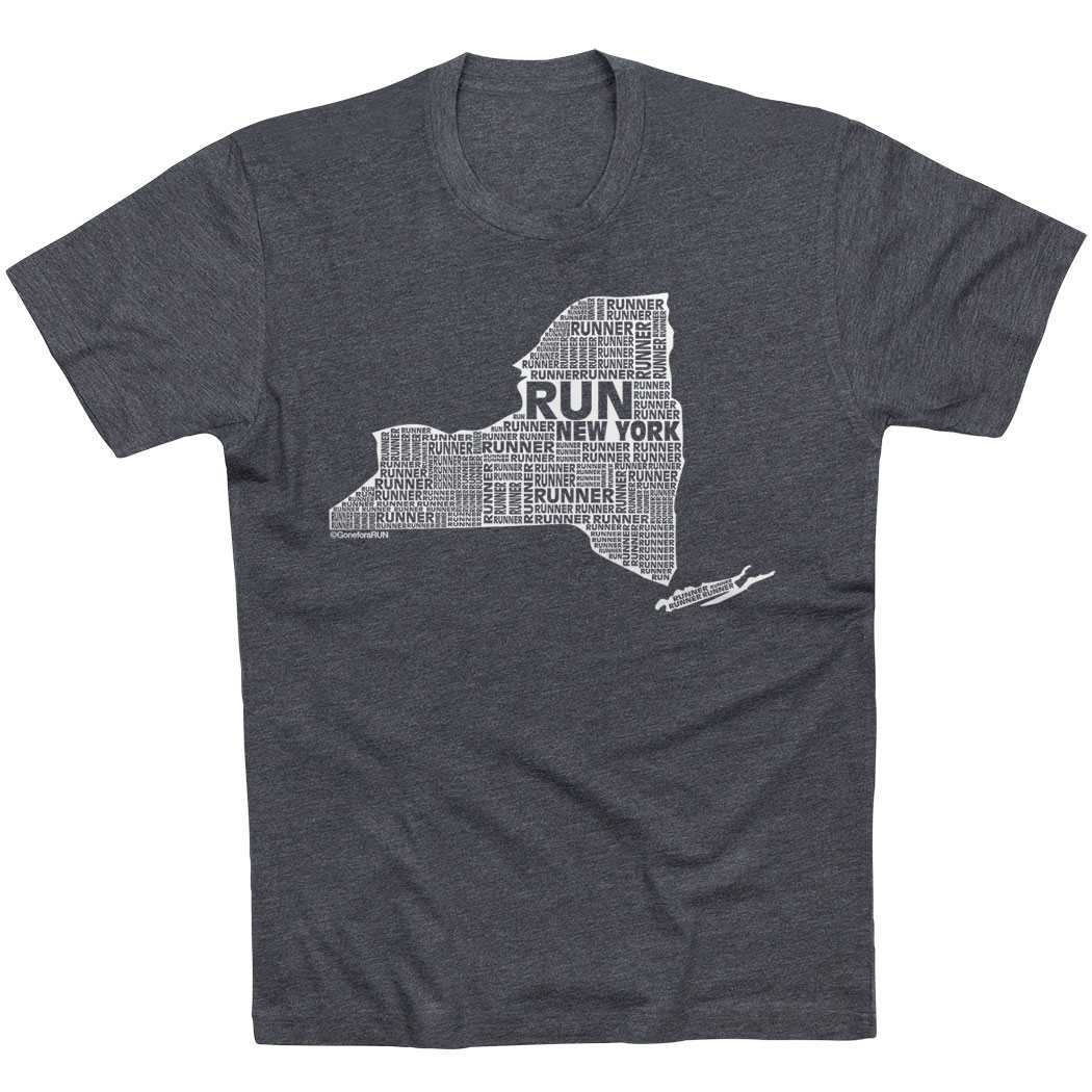 Running Short Sleeve T-Shirt - New York State Runner