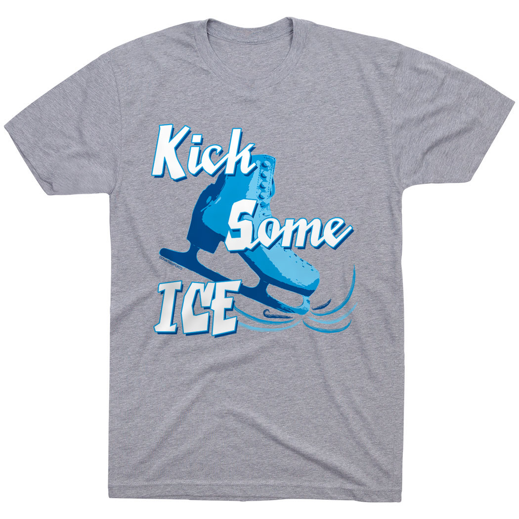 Figure Skating Tshirt Short Sleeve Kick Some Ice